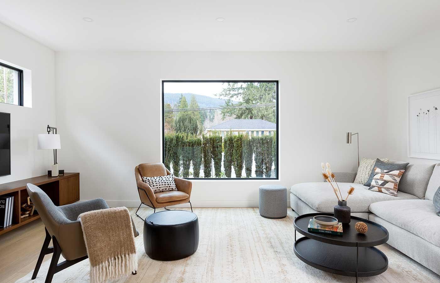 Living Room Modern New Build
