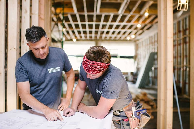 Team Members Working At Kennedy Construction