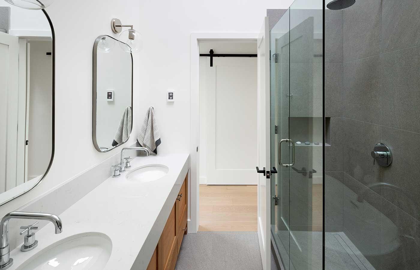 New Modern Farmhouse Bathroom Double Sink